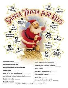 Santa Claus Trivia For Kids