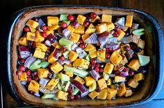 Roasted Butternut Squash Cranberries and Celery with Rosemary and Lime2