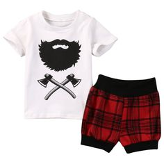 Baby 2 Piece Baby Boy Outfit Summer Short Sleeve Shirt Shorts Free Shipping! Please allow 2-4 weeks for delivery.
