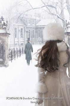 Trevillion Images - woman-in-white-gown-watching-a-man-walking-in