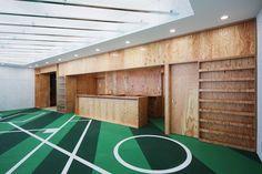 tsubame architects crafts ballpark club house for local baseball team