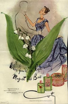 When you're in love wear Muguet des Bois . From Duke Digital Collections. Collection: Ad*Access
