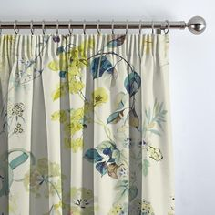 Bougainvillea Waterfall Curtain. Swift Direct Blinds Curtain Drops, Linen Upholstery Fabric, Made To Measure Blinds, Pencil Pleat, Curtain Patterns, Bougainvillea, Curtains With Blinds, Window Sill, Soft Colors