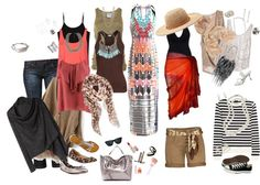 """""""7 day Vacation Clothes"""" by gailcameron on Polyvore"""