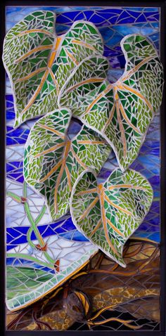 Hand Crafted Life To Life - Criativa Arts. Mosaic leaves