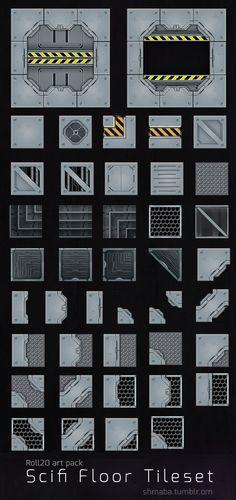 Scifi Floor tileset for Roll20 tabletop games