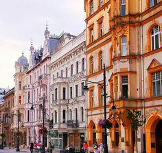 Lodz, Poland, Piotrkowska street