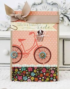 Beautiful Ride Card by Melissa Phillips for Papertrey Ink (May 2013)