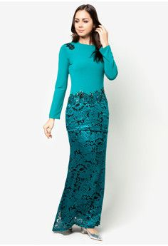 kurung moden lace - Google Search | Dresses | Pinterest | Lace, Google ...
