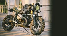 """As a 120 hp bike that's at home both on dirt and pavement, Cafe Racer Dreams's newest creation, aptly named """"Animal,"""" is based on a BMW R1200S."""