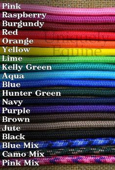 Premium Rope Halter 17 colors - All Sizes w/Braided Nose Wrap - RC RH BRD