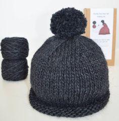Knitting Pattern And Wool Kits : 1000+ images about Chunky Beanie Hat Knitting Kit in Alpaca Wool Mix on Pinte...