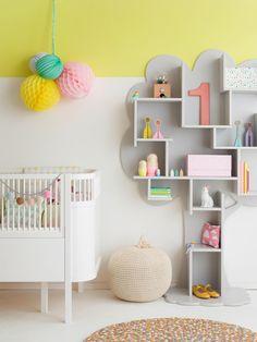 pastel w pokojach dzieci - drzewo półka Kids Room | Quarto criança