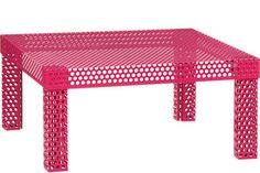cb2 pink perforated table | ... statement novogratz for cb2 rouge coffee table $ 349 available at cb2