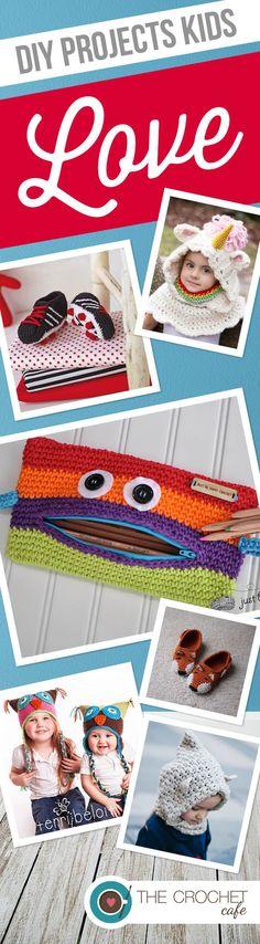 DIY Projects Kids Love -- great crochet patterns