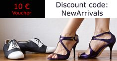 """10 € vouchers! discount code """"NewArrivals"""" only for the first 10! hurry up ;-) www.italiantangoshoes.com/shop/en/"""