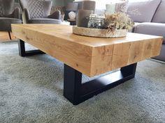 Solid Oak Coffee Table, Rustic Coffee Tables, Rustic Table, Welded Furniture, Steel Furniture, Table Furniture, Wood Table Design, Coffee Table Design, Modern Table Legs