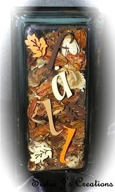 Fall Decorative Glass Block