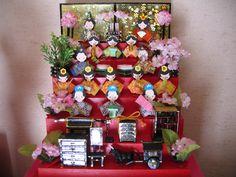 手作り7段ひな飾り(横20cm、縦25cm) 貝がらひな ひな祭り 人形