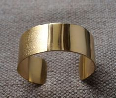 Brass bracelet with smooth and satin-finished effect, www.lemetissage.it