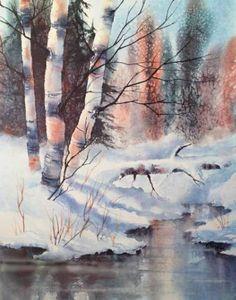 Alaska Birch print for Saatchi by Teresa Ascone