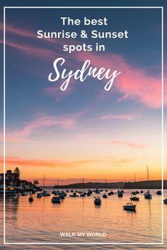 There's no better time to photograph Sydney then at sunrise and sunset. There's a lot of really great spots for both sunrise and sunset, so here's our top picks!