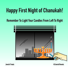 Menorah Lighting How-To: First Night. First Night Of Hanukkah, Temple In Jerusalem, The Eighth Day, Festival Lights, Treats, Fun, Third, Sweet Like Candy