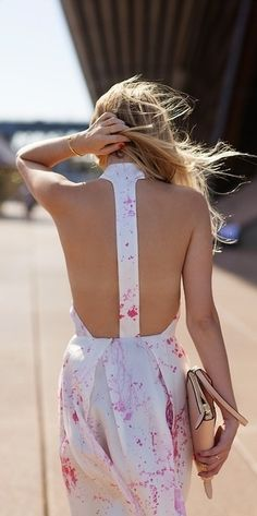 T-Strap Dress - modern, sexy, and oh so cool.