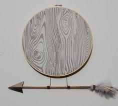 Little Warrior Large Hoop in Grey by slateandsage on Etsy