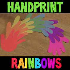 How To Make Hand Print Rainbows for Preschooler Activity « Color Wheel And Colors « Educational Learning Crafts « Kids Crafts & Activities