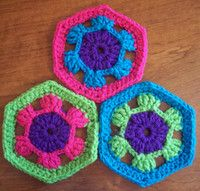 Hexagonal Flower Granny Square Pattern