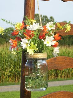 10 Mason Jar Flower Frog Lids Hanging Flower by DownInTheBoondocks,