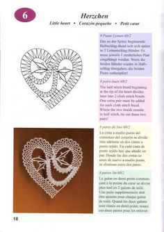 Neue Weihnnachts-Klöppelmuster - 26 Mb - isamamo - Picasa Web Albums Filet Crochet, Crochet Diagram, Irish Crochet, Bobbin Lacemaking, Bobbin Lace Patterns, Lace Heart, Victorian Lace, Lace Jewelry, Needle Lace