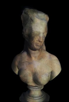 JE BAAK | HADA CONTEMPORARY |    The Complex Question Fallacy 001 | sanded and bleached money on statue of Venus | 80x50x35 cm | 2012