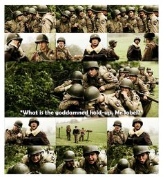 This entire scene! Easy Company vs. Herbert Sobel. It doesn't need anymore explanation. Poor Sobel aka David Schwimmer.