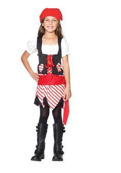 Petite Pirate Cute Kids Costume