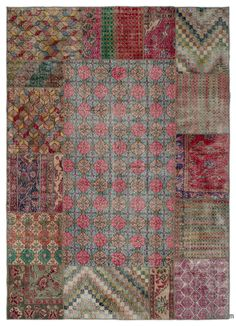 Our vintage patchwork rugs sew together cultures, traditions and history, creating beautifully unique rugs. We carefully select Turkish hand-knotted rugswoven in the 60's and 70'sto create our collection of patchwork rugs. We trim the piles for a vintage look. We then cut them into smaller pieces and hand sew the fragments together with a sturdy yarn. We back the patchwork rug with buckram and a cotton cloth that strengthens the rug. The rearrangement of the fragments transforms the ancie…