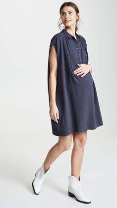 9e2fa72c35dec Hatch The Louise Dress Dress Cuts, Point Collar, Maternity Fashion,  Pregnancy Fashion,