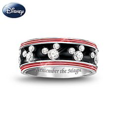 """Mickey Mouse Sterling Silver Engraved """"Remember the magic"""" Women's Ring"""