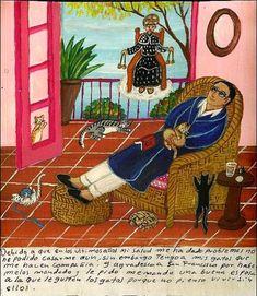 Retablos about cats