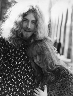 Robert Plant with Sandy Denny, the Fairport Convention singer who accompanied Robert on The Battle Of Evermore