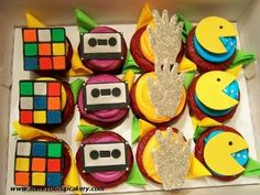 80's inspired cupcakes