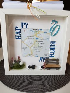 Great game ideas for a birthday party in a perfect style – New Ideas - Birthday Presents A Birthday Party, Birthday Presents, Happy Birthday, Birthday Frames, Woodland Party, Holiday Cocktails, Shadow Box, Deco, Gifts For Dad