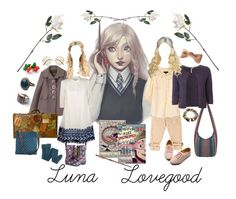 """Luna Lovegood"" by faerie-girl ❤ liked on Polyvore featuring moda, Junya Watanabe, ELSE, Louis Vuitton, White Stuff, Sea, New York, Ollio, Alex and Chloe, Luna y Maika"