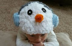 Snowman hat, crochet snowman baby hat Check out this item in my Etsy shop https://www.etsy.com/listing/486796413/snowman-baby-hat-snowman-crochet-baby