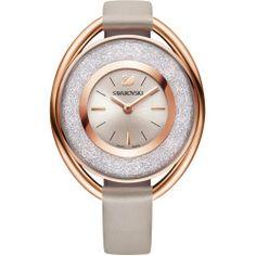 Swarovski Crystal Crystalline Oval Rose Gold Tone Watch
