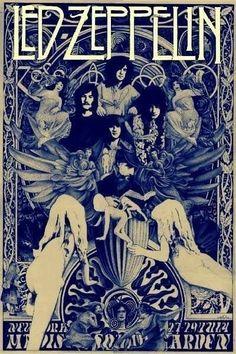 Led Zeppelin The Starship Airplane Music Art Print Poster Wall Decor Classic Image Led Zeppelin Poster, Led Zeppelin I, Pop Rock, Rock Roll, Music Background, Rock Band Posters, Kunst Poster, John Paul Jones, John Bonham