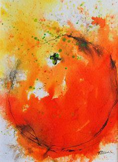 Original Painting Vibrant Orange Fruit Watercolour by Tamarrisart, £25.00