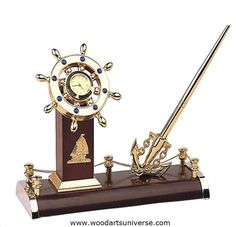 upto 65% off Nautical  Anchor Pen Stand and Ship Wheel Clock WASCBG09700    #freeshipping #sale http://woodartsuniverse.com/catalog/product_info.php?cPath=27&products_id=512