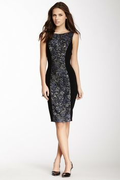 Theia Brocade Inset Sheath Dress by Non Specific on @HauteLook
